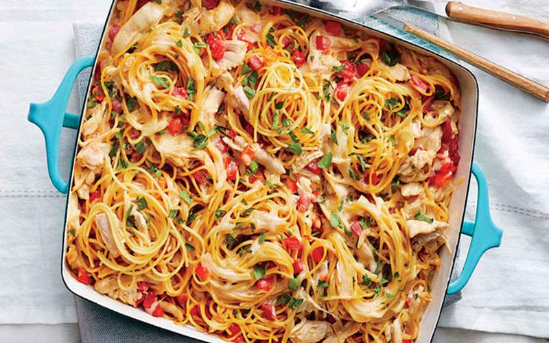 اسپاگتی مرغ